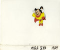 "Animation Art:Production Cel, ""The New Adventures of Mighty Mouse"" Production Cel Original Art(Filmation, undated). This colorful, hand-painted productio..."