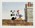 "Animation Art:Limited Edition Cel, ""Woody Woodpecker Scolds Andy Panda"" Hand Painted Cel #7/200Original Art (Walter Lantz Productions). Andy Panda tries the t...(Total: 2 Items)"