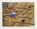 "Animation Art:Limited Edition Cel, ""Rooftop Woody Woodpecker"" Hand Painted Cel #193/200 Original Art(Walter Lantz Productions). ""Ha-Ha-Ha-HAAA-Ha!"" The wacky ...(Total: 2 Items)"