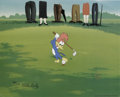 "Animation Art:Limited Edition Cel, ""Golfing Fool"" Limited Edition Hand Painted Cel Artist's Proof#2/10 Original Art (Walter Lantz Productions, 1992). Recreate..."
