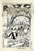Original Comic Art:Miscellaneous, George Perez and Ernie Colon - Amethyst, Princess of Gemworld #11Cover Stat (DC, 1984). Amethyst leads the heads of the oth...