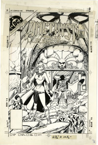 George Perez and Ernie Colon - Amethyst, Princess of Gemworld #11 Cover Stat (DC, 1984). Amethyst leads the heads of the...