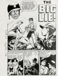 "Original Comic Art:Complete Story, Jack Sparling - Warfront #28, Complete 5-page Story ""The Big Lie""Original Art (Harvey, 1956). Lovely Linda Romaine, Hollywo..."
