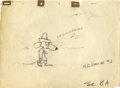 Animation Art:Production Drawing, Slowpoke Rodriguez Layout Drawing Original Art (Warner Bros.,undated). Speedy Gonzalez's cousin, Slowpoke Rodriguez, sings ...