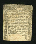 Colonial Notes:Connecticut, Connecticut July 1, 1780 20s With Criss Cross Cancellation AboutNew. Light handling is seen on this final issue Connecticut...