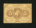 Fractional Currency:First Issue, Fr. 1230 5c First Issue Very Fine. A circulated example of this with monogram type note....