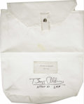 "Transportation:Space Exploration, Buzz Aldrin's Apollo 11 Flown Signed Beta Cloth Bag. A white beta cloth bag of 8.5"" x 10.5"" with a 2"" gusset and a top flap ... (Total: 1 Item)"