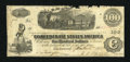 Confederate Notes:1862 Issues, T40 $100 1862. Edge wear is noticed on this C-note. Very Good....