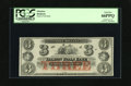 Obsoletes By State:New Hampshire, Rollinsford, NH- Salmon Falls Bank, NH $3 18__. Full margins bedeck this remainder. PCGS Gem New 66PPQ....