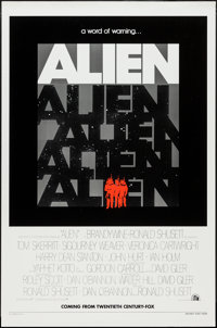 "Alien (20th Century Fox, 1979). One Sheet (27"" X 41"") Advance. Science Fiction"