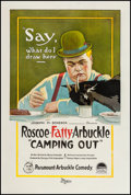 "Movie Posters:Comedy, Camping Out (Paramount, 1919). One Sheet (27"" X 41""). Comedy.. ..."