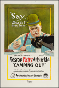 "Camping Out (Paramount, 1919). One Sheet (27"" X 41""). Comedy"