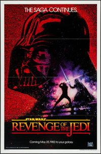 "Revenge of the Jedi (20th Century Fox, 1982). One Sheet (27"" X 41"") Dated Advance Style, Flat Folded. Science..."