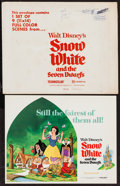 "Movie Posters:Animation, Snow White and the Seven Dwarfs (Buena Vista, R-1975). Lobby CardSet of 9 (11"" X 14""). Animation.. ... (Total: 10 Items)"