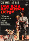 """Movie Posters:Adventure, Gold of the Seven Saints (Warner Brothers, 1961). German A1 (23.25""""X 33.5""""). Adventure.. ..."""