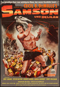 "Movie Posters:Adventure, Samson and Delilah (Paramount, 1951). German A1 (23"" X 33.5"").Adventure.. ..."