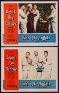 """Movie Posters:Comedy, We're No Angels (Paramount, 1955). Lobby Cards (2) (11"""" X 14"""").Comedy.. ... (Total: 2 Items)"""