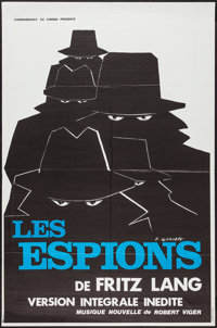 "Spies (Connaissance Du Cinema, R-1970s). French Affiche (31"" X 46""). Thriller"