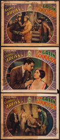 "Movie Posters:Adventure, The Green Goddess (Warner Brothers, 1930). Lobby Cards (3) (11"" X14""). Adventure.. ... (Total: 3 Items)"