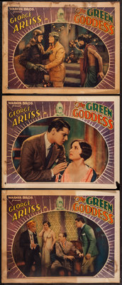 """The Green Goddess (Warner Brothers, 1930). Lobby Cards (3) (11"""" X 14""""). Adventure. ... (Total: 3 Items)"""