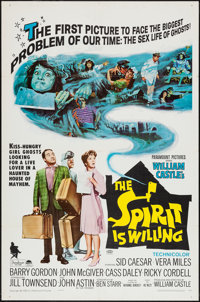 """The Spirit Is Willing & Others Lot (Paramount, 1967). One Sheets (3) (27"""" X 41"""") Regular & Sty..."""