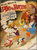"Movie Posters:Animation, Pile ou Farces (Walt Disney, 1965). French Grande (45"" X 61"").Animation.. ..."