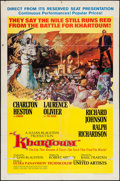 """Movie Posters:Adventure, Khartoum (United Artists, 1966). One Sheet (27"""" X 41"""") NewCampaign, Style A. Adventure.. ..."""