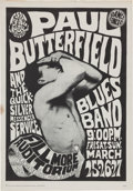 Music Memorabilia:Posters, Paul Butterfield Blues Band/Quicksilver Messenger Service FillmoreConcert Poster FD-3 (Family Dog, 1966)....