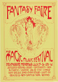 "Music Memorabilia:Posters, Jefferson Airplane/Doors ""Fantasy Faire and Magic Festival""Devonshire Meadows Concert Poster (1967)...."