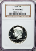 Proof Kennedy Half Dollars: , 1964 50C PR69 Cameo NGC. NGC Census: (1341/679). PCGS Population(232/0). Numismedia Wsl. Price for problem free NGC/PCGS ...