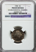 Proof Liberty Nickels: , 1900 5C -- Environmental Damage -- NGC Details. Proof. NGC Census:(0/404). PCGS Population (2/505). Mintage: 2,262. Numism...