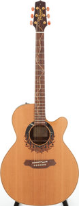 Musical Instruments:Acoustic Guitars, 2000 Takamine LTD-2000 Natural Acoustic Electric Guitar, Serial #99120163. ...