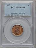 Indian Cents: , 1907 1C MS65 Red and Brown PCGS. PCGS Population (115/3). NGCCensus: (189/7). Mintage: 108,138,616. Numismedia Wsl. Price ...
