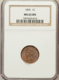 Indian Cents: , 1896 1C MS65 Brown NGC. NGC Census: (32/3). PCGS Population (9/0).Mintage: 39,057,292. Numismedia Wsl. Price for problem f...
