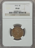 Proof Liberty Nickels: , 1912 5C PR62 NGC. NGC Census: (12/497). PCGS Population (25/446).Mintage: 2,145. Numismedia Wsl. Price for problem free NG...