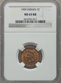 Indian Cents: , 1909 1C MS63 Red and Brown NGC. NGC Census: (146/644). PCGSPopulation (240/777). Mintage: 14,370,645. Numismedia Wsl. Pric...