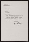 Golf Collectibles:Autographs, Ben Hogan Signed Letter. ...