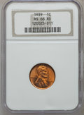 Lincoln Cents, (4)1939 1C MS66 Red NGC.... (Total: 4 coins)