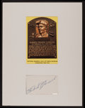 Baseball Collectibles:Others, Roberto Clemente Signed Cut Signature Display. ...