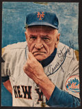 Baseball Collectibles:Photos, Casey Stengel Signed Magazine Photograph....