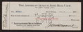 Baseball Collectibles:Others, 1927 Art Fletcher Signed Yankees Payroll Check Also Signed by Ruppert & Barrow. ...