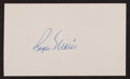 Baseball Collectibles:Others, Roger Maris Signed Index Card. ...