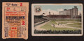 Baseball Collectibles:Others, 1937 World Series Ticket & Phillies Park Postcard. ...