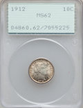 Barber Dimes: , 1912 10C MS62 PCGS. PCGS Population (134/622). NGC Census:(101/637). Mintage: 19,350,000. Numismedia Wsl. Price for proble...
