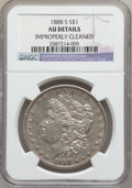 Morgan Dollars, 1888-S $1 -- Improperly Cleaned -- NGC Details. AU. NGC Census:(60/3516). PCGS Population (138/5916). Mintage: 657,000. Nu...