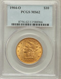 Liberty Eagles: , 1904-O $10 MS62 PCGS. PCGS Population (176/90). NGC Census:(151/55). Mintage: 108,950. Numismedia Wsl. Price for problem f...
