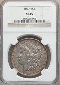 Morgan Dollars: , 1899 $1 XF45 NGC. NGC Census: (48/8089). PCGS Population(89/10707). Mintage: 330,846. Numismedia Wsl. Price for problemfr...