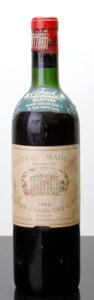 Red Bordeaux, Chateau Margaux 1962 . Margaux. htms, bsl, nc, ssos. Bottle(1). ... (Total: 1 Btl. )