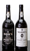 Port/Madeira/Misc Dessert, Dow's Vintage Port . 1977 Silver Jubilee bsl, nl Bottle (1).Warre's Vintage Port . 1977 lbsl, lnl Bottle (1). ... (Total: 2Btls. )