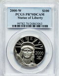 Modern Bullion Coins: , 2000-W P$100 One-Ounce Platinum Eagle PR70 Deep Cameo PCGS. PCGSPopulation (150). NGC Census: (427). Numismedia Wsl. Pric...